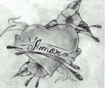Dibujos artisticos de corazones hechos a lpiz  Informacin imgenes