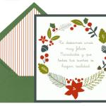 Tarjetas clásicas para Navidad y Año Nuevo para imprimir