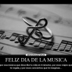 Imágenes con frases de Felíz Día de la Música para celebrar