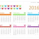 Calendarios 2016 con dibujos para niños para descargar e imprimir