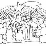 Dibujos infantiles del Portal de Belén para pintar