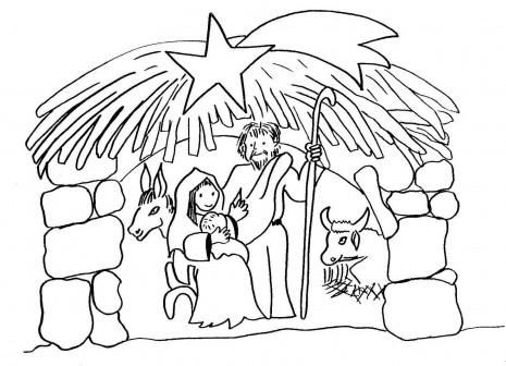 Dibujos infantiles del Portal de Beln para pintar  Informacin