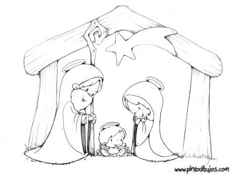 Dibujos infantiles del portal de bel n para pintar - Figuras belen infantil ...