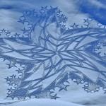 Imágenes de Arte en la Nieve, una nueva forma de hacer arte