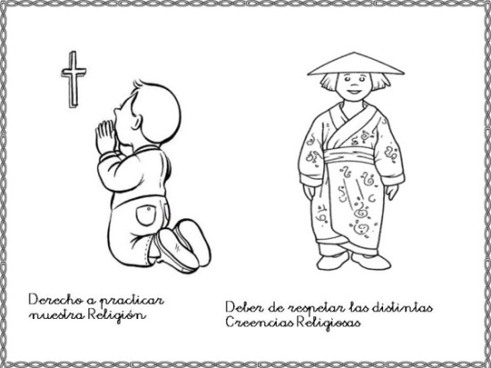 Dibujos del d a internacional de los derechos humanos para pintar descargar e imprimir - Agencias para tener estudiantes en casa ...
