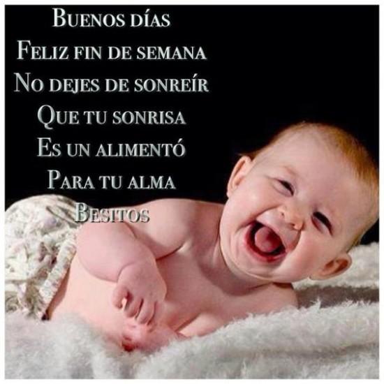 Feliz Sabado con fotos de Bebes y mensajes bonitos (2)