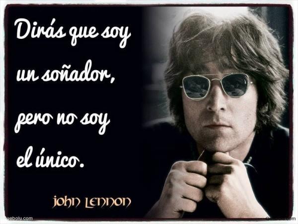 Imgenes de Yoko Ono y John Lennon con frases de Amor y Paz para