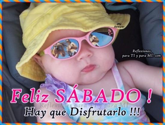 imágenes de Bebes con Frases Feliz Sabado (4)