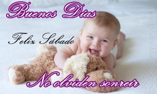 imágenes de Bebes con Frases Feliz Sabado (5)