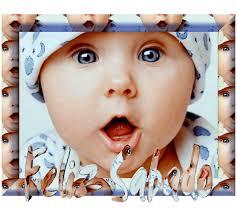 imágenes de Bebes con Frases Feliz Sabado (8)