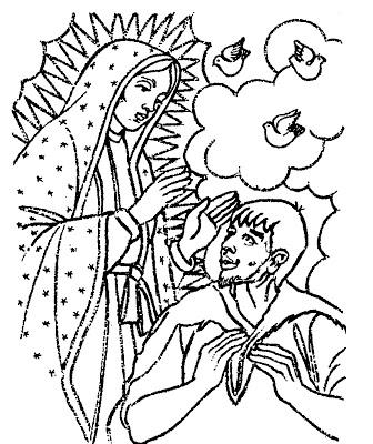 Dibujos Infantiles De La Virgen De Guadalupe Para Colorear Informacion Imagenes