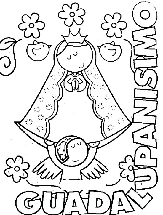 Rosa Guadalupe Coloring Sheets Pages