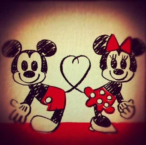 Mickey Mouse y Minnie dibujos (5)