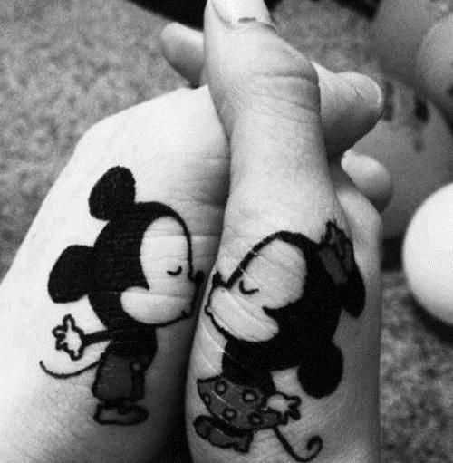 Mickey Mouse y Minnie en Blanco y negro (2)
