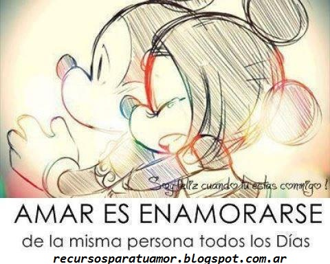 Mickey y Minnie con Frases  (5)