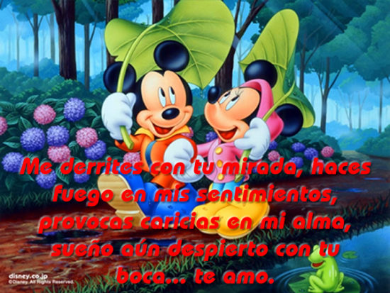 Mickey y Minnie con Frases  (6)