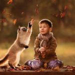 Tiernas imágenes de Bebes y Niños bonitos con perros y gatos