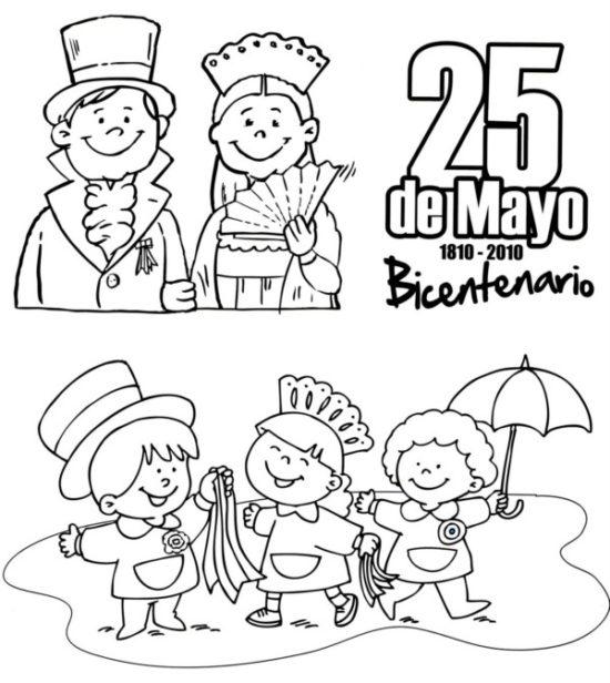 25 de mayo dibujos para niños  colorear (1)