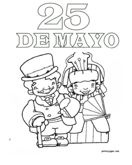 25 de mayo dibujos para niños  colorear (10)