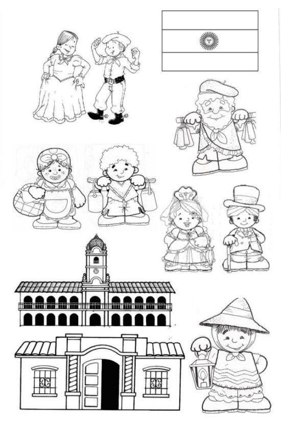 25 de mayo dibujos para niños  colorear (25)