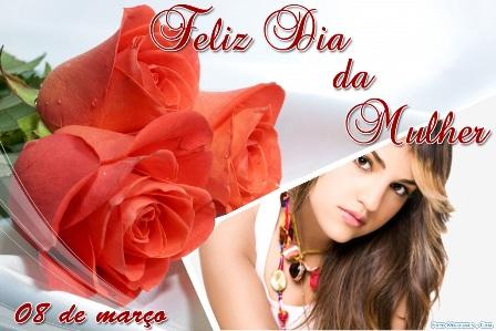 Frases con Flores de Felíz Día de la Mujer (3)
