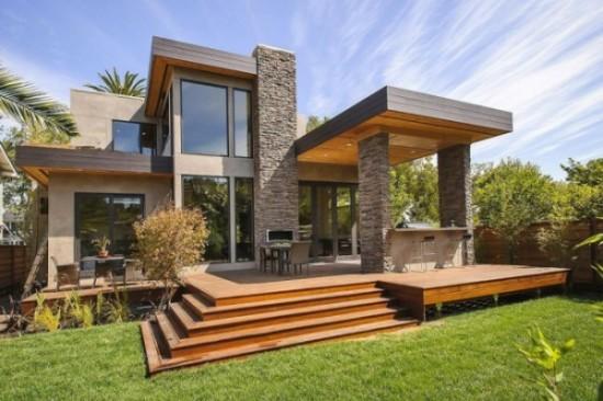 Hermosas fachadas de casas modernas y simples (19)