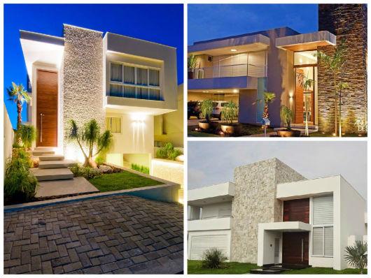 18 modelos de fachadas de casas modernas house elevation and house - Fotos De Fachadas De Casas