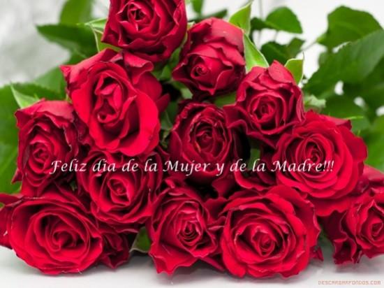 Imágenes con Flores Felíz Día de la Mujer para enviar (2)