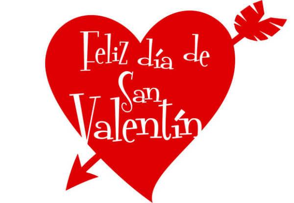 Corazn de Amor con frases de amor romanticas para San valentin