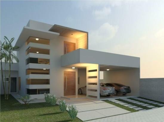 planos de casas modernas de 5 pisos