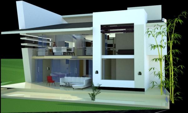 160 im genes de fachadas de casas modernas minimalistas y for Diseno de frente de casa pequena