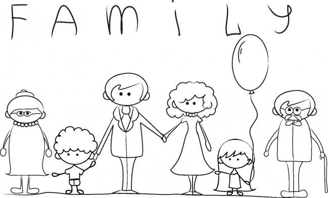Dibujos De Familia Para Colorear E Imprimir: Imágenes Del Día De La Madre Con Dibujos Para Descargar