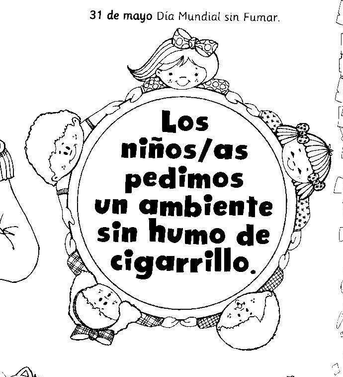 Im genes del d a mundial sin tabaco para colorear pintar for Cuarto dia sin fumar