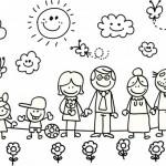Imágenes del Día de la Familia para pintar, colorear e imprimir el 15 de Mayo