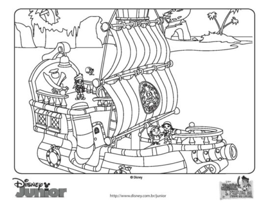 Jake y los piratas del nunca jamas para colorear (1)