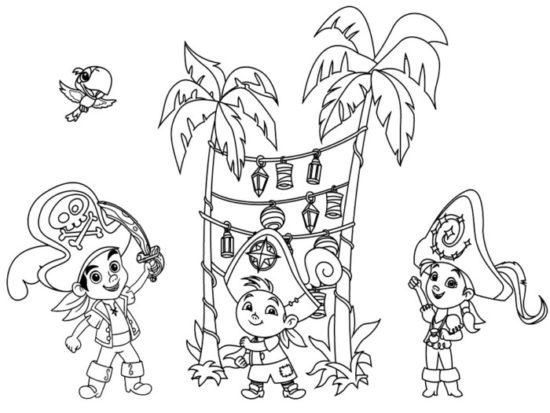 Jake y los piratas del nunca jamas para colorear (15)