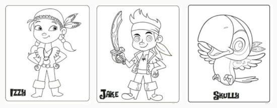 Jake y los piratas del nunca jamas para colorear (3)