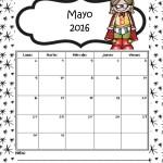 Imágenes de Calendarios Infantiles de Mayo 2016 para imprimir