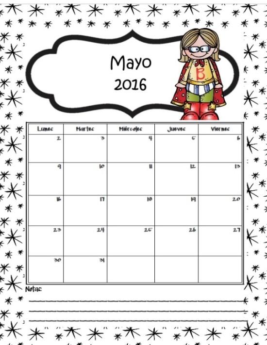 ... en Imágenes de Calendarios Infantiles de Mayo 2016 para imprimir