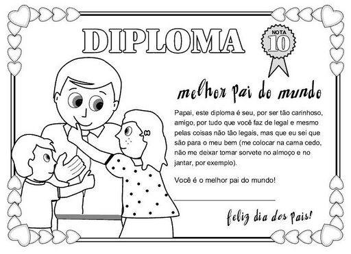 Carteles y diplomas del Día del Padre para colorear y regalar ...