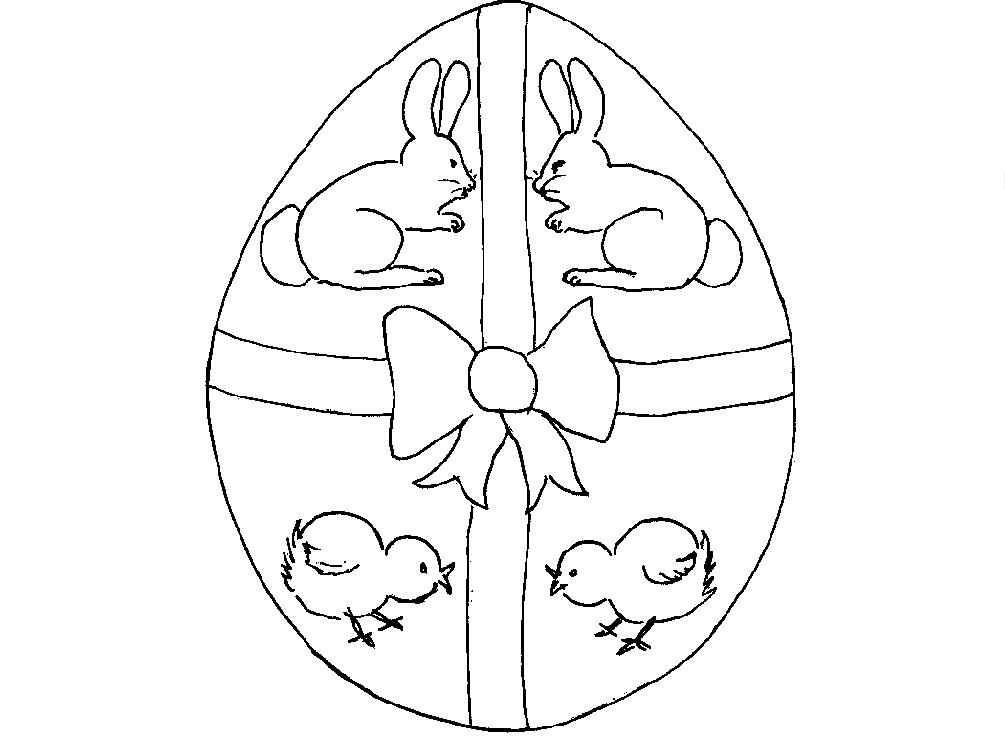 Dibujos De Conejitos Para Imprimir Y Colorear: Originales Huevos Y Conejos De Pascua Para Imprimir Y