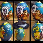 Imágenes de bonitos huevos de Pascuas decorados y divertidos para descargar y compartir