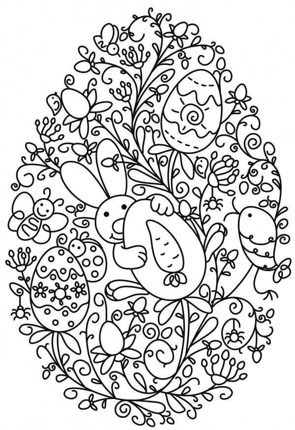 Originales huevos y conejos de pascua para imprimir y colorear el domingo de resurrecci n - Dibujos originales para pintar ...
