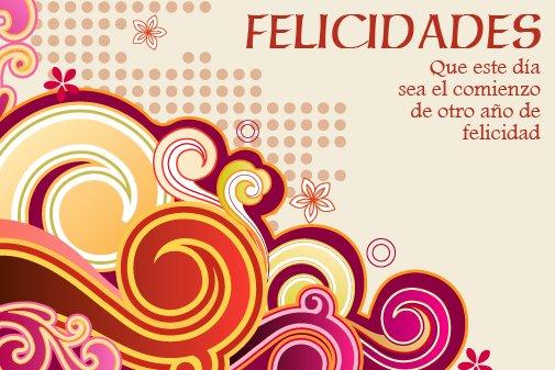 Adorno floral para desear Feliz cumpleaños (1)