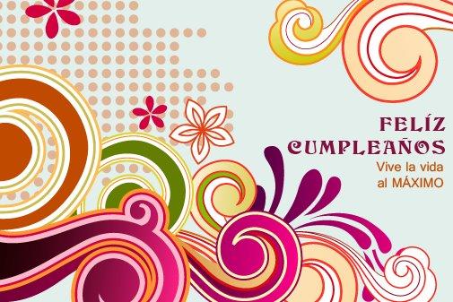 Adorno floral para desear Feliz cumpleaños (6)