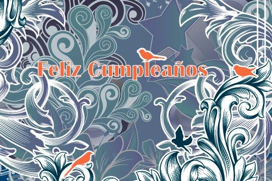 Adorno floral para desear Feliz cumpleaños (7)