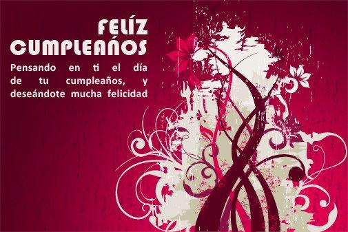 Adorno floral para desear Feliz cumpleaños (9)