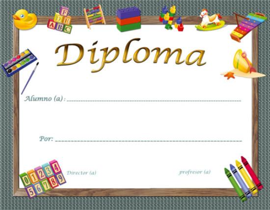 ... en Diplomas escolares Infantiles para Niños para imprimir y descargar