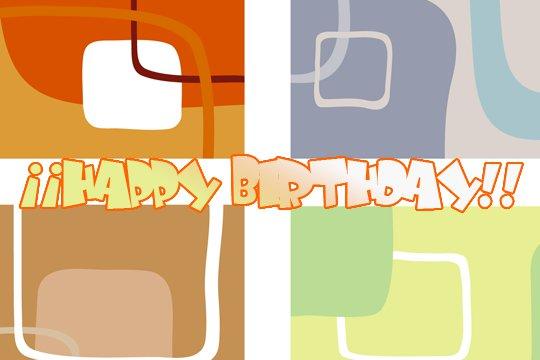 imágenes abstractas con frase de Feliz Cumpleaños (2)