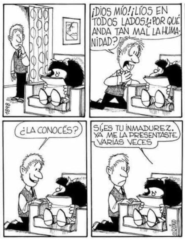 66 Imágenes de Mafalda con frases de Amor, felicidad
